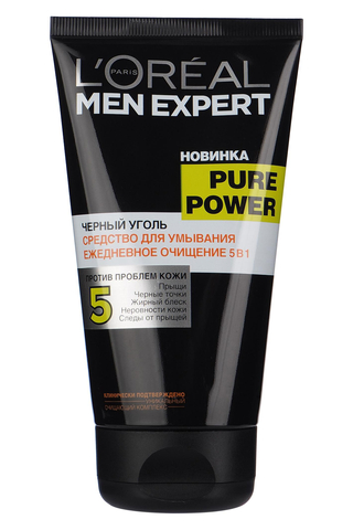 Гель для умывания Men Expert Pure Power Черный Уголь, 150 мл