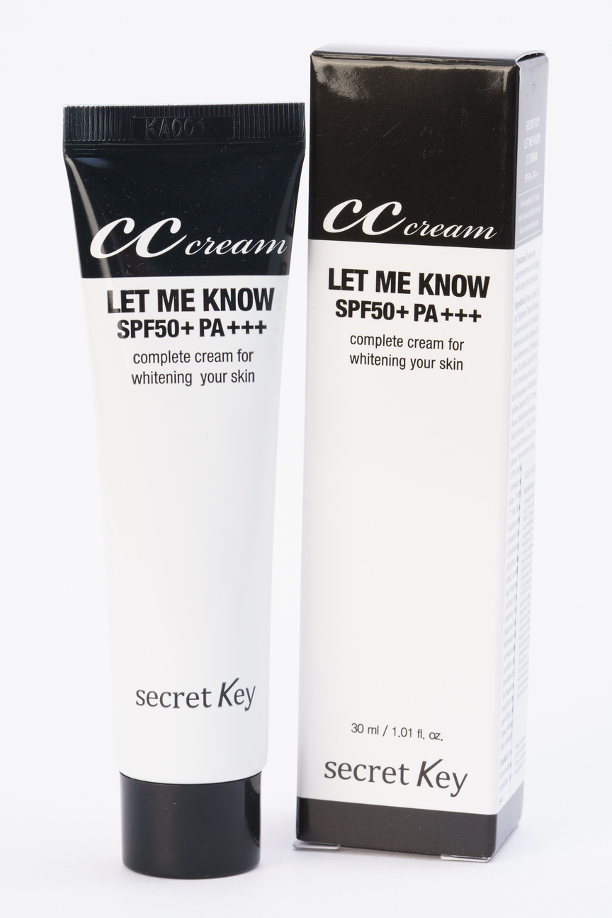 СС крем для лица осветляющий Secret Key Let Me Know CC Cream Secret Key Цвет: Без цвета