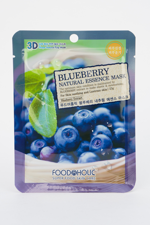 Тканевая 3D маска с черникой FoodaHolic Blueberry
