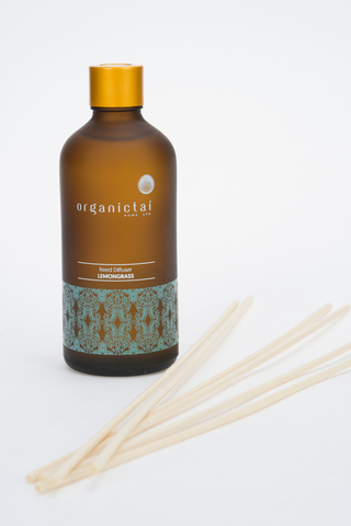 Диффузор с лемонграссом для ароматизации помещения Reed Diffuser Lemongrass, 100 мл